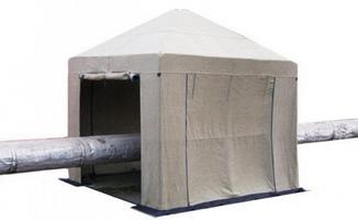 Tent 3х3 ( м ) Брезент. Усиленный каркас труба 25мм.
